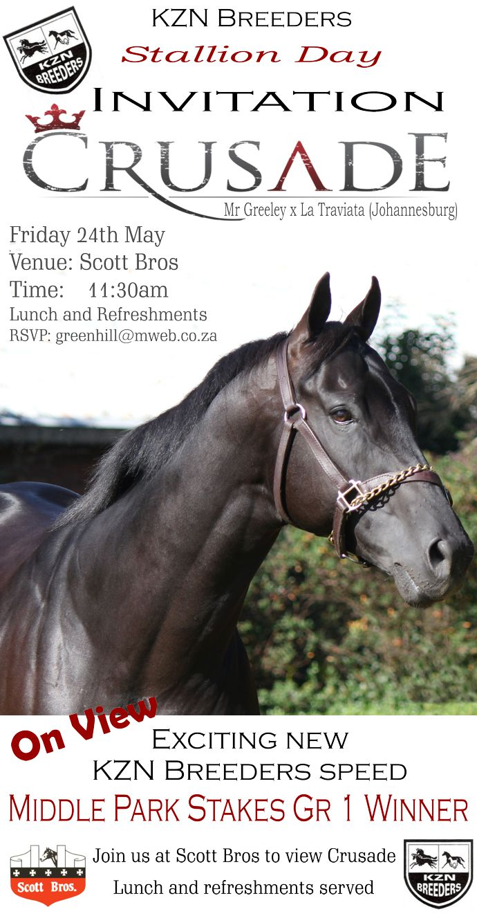 Crusade(USA) Stallion Day Invitation