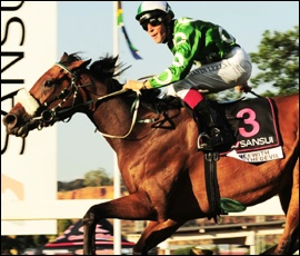 Dancewiththedevil winning the Sansui Summer Cup Grade 1 in 2011