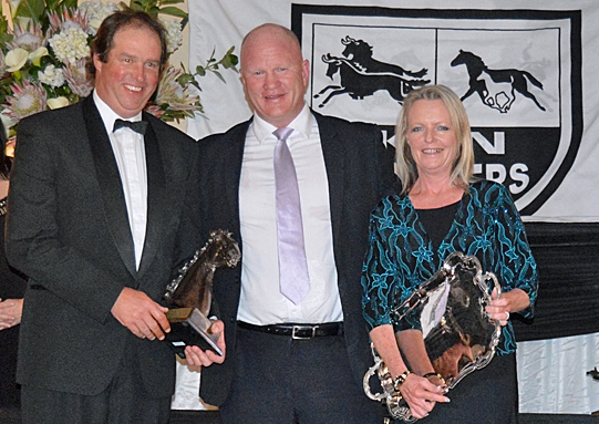 Stallion of the year sponsored by the TBA, presented by Tom Callaghan to Karin and Warwick Render of Bush Hill Stud. Image: Leigh Willson