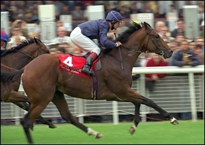 King Of Kings(IRE) winning the 2000 Guineas in England.