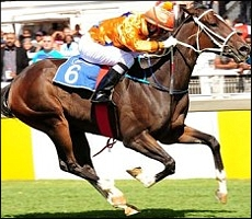 King's Temptress, annihilating the field in her debut and Gr 2 SA Fillies Nursery win. Image: sportingpost.co.za