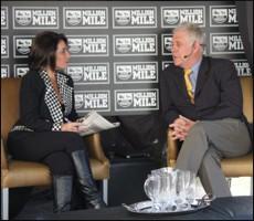 KZN Breeders Chairman Koos De Klerk being interviewed. Image: Candiese Marnewick