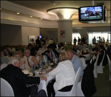 The Stewards Room, the event today was fully booked. Image: Candiese Marnewick