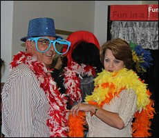 Graeme Hawkins and his wife having some fun with the photobooth. Image: Candiese Marnewick
