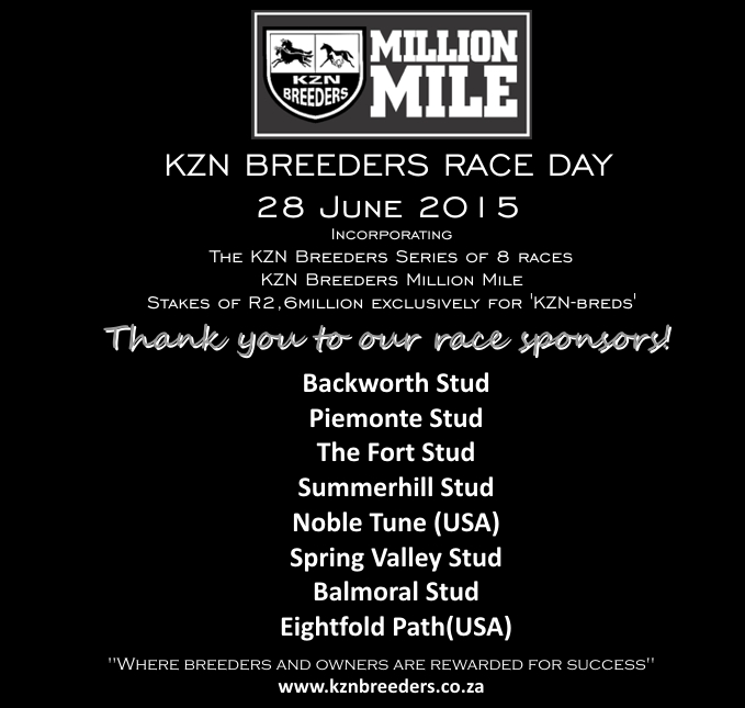 KZN Breeders Race Day: Thank You To Our Sponsors