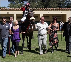 Night Club, winning the first race for sire Carpocrates(USA). Image: Gold Circle