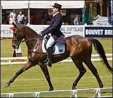 Paul and Heartbreak Hill competing in the dressage phase.