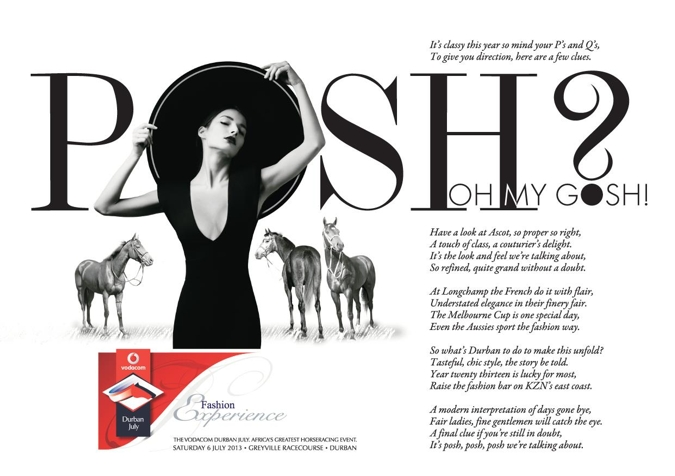 Vodacom Durban July Day Theme Released - Posh? Oh My Gosh!
