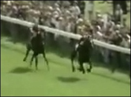 Roberto winning the Derby from Brigadier Gerard